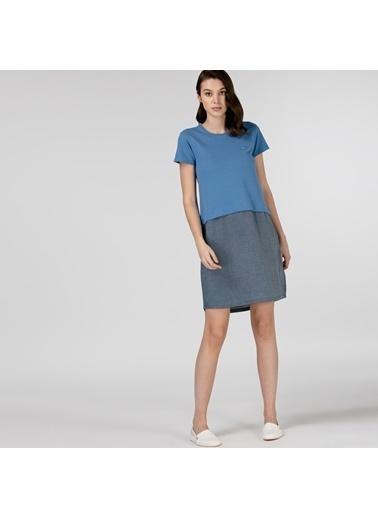 Lacoste Kadın Kısa Kollu Elbise EF0108.08M Mavi